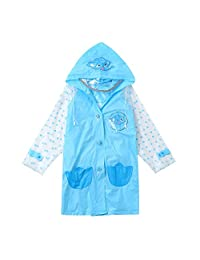 AMSKY Baby Boys Girls Children Cartoon Reflective Tape Raincoat+Bag 2PCS Student Cloth