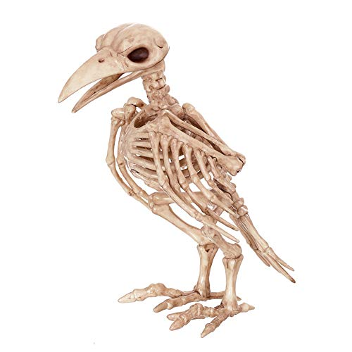 LCMJ WS Vintage Halloween Decoration Scary Skull Crow Spoof Interesting 18cm -