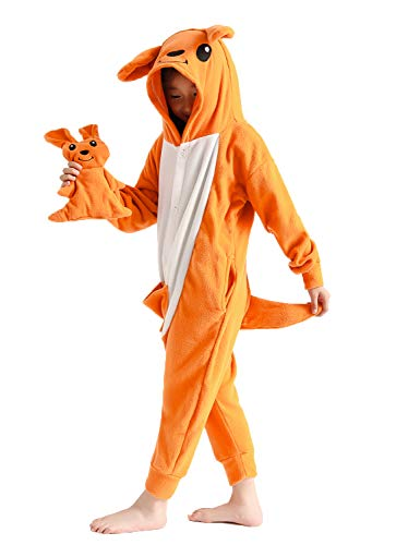 Easy Kangaroo Costume (Unisex Children Kangaroo Pajamas One-Piece Cosplay Costume for)