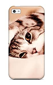 Ideal Mary David Proctor Case Cover For Iphone 5c(kitty Cat Computer ), Protective Stylish Case