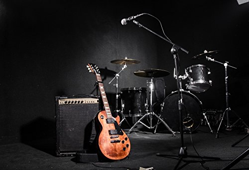 - Yeele 10x8ft Garage Band Backdrop Guitar Drum Modern Rock Music Sound Background for Photography Adult Portrait Photo Booth Video Shooting Vinyl Wallpaper Photocall Studio Props