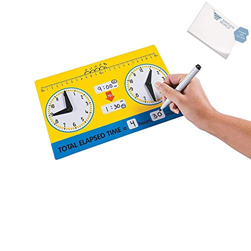 - Bargain World Elapsed Time Dry Erase Boards (With Sticky Notes)