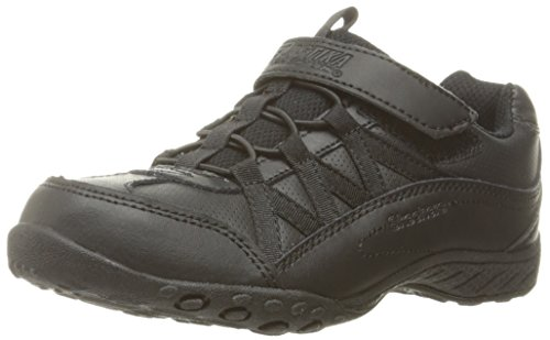 Skechers Kids Girls' Breathe-Easy Sneaker, Black/Black, 10.5 M US Little Kid