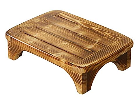 Amazing Welcare Burned Handcrafted 100 Solid Wood Step Stool Foot Stool Kitchen Stools Bed Steps Small Step Ladder Bathroom Stools Caraccident5 Cool Chair Designs And Ideas Caraccident5Info
