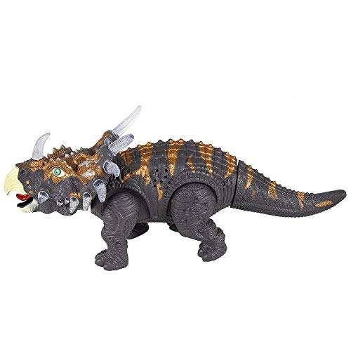 FanBell Walking Triceratops Dinosaur Toy Figure with Multicolor Lights & Loud Roar Sounds for for Boys and Girls Over 3 Years Old,Real Movement by FanBell (Image #5)
