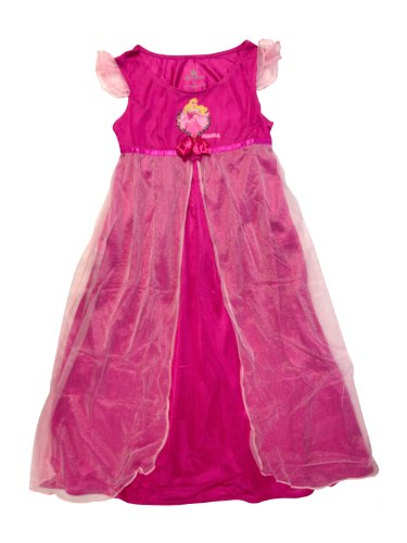Disney Aurora Sleeping Beauty Pink Silky Nightgown Nightshirt Store Parks (XXS 2 Extra Extra Small)