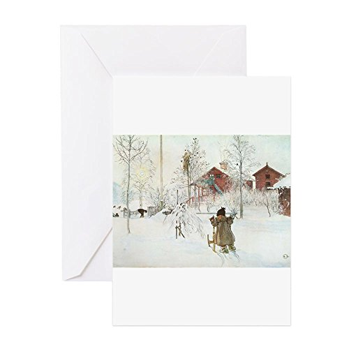 CafePress - Winter Farm House Greeting Cards - Greeting Card (20-pack), Note Card with Blank Inside, Birthday Card ()