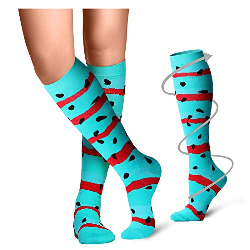 1 Pair Free Socks - Compression Socks Women & Men(1,3,6,8 pairs) - Best for Running,Medical,Athletic Sports,Flight Travel, Pregnancy