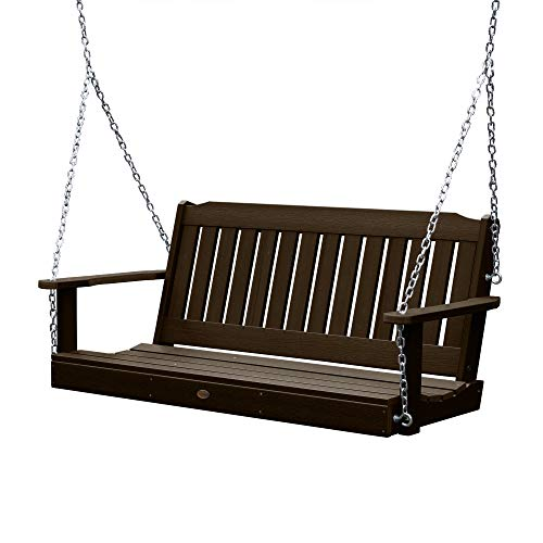 Highwood AD-PORL1-ACE Recycled Plastic Marine-Grade 2-Person Lehigh Porch Swing with Zinc-Plated...