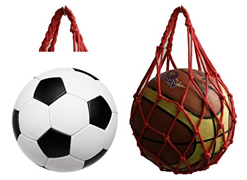 Fashion handmade red nylon rope stronger basketball holder classical football bags