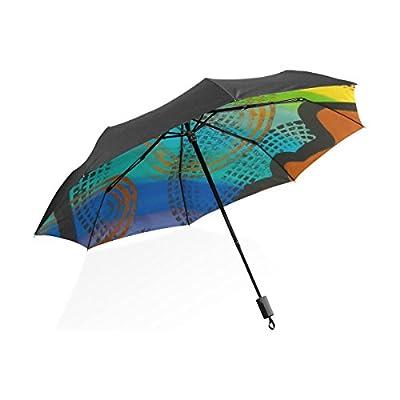 0f5a904b6de5 good LORVIES Abstract Rainbow Art Custom Foldable Sun Rain Umbrella ...
