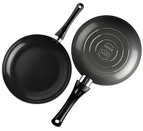 IKO Ceramic Non Stick Fry Pan with Stay Cool Soft Grip Handle, Durable and Easy Clean