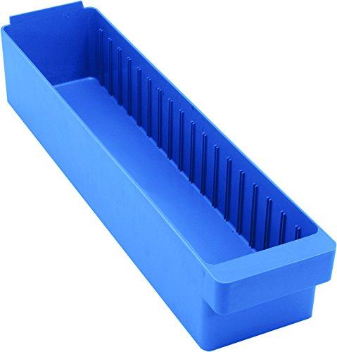 Euro Bin Drawers - Quantum Storage Systems QED603BL Super Tuff Euro Drawers, 23-7/8 L x 5-9/16 W x 4-5/8 H, Blue (Pack of 12)