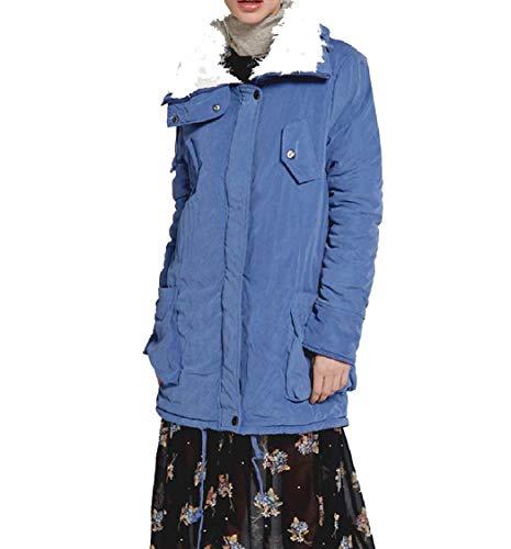 Plus Mid Pure Long Colour Anorak Jacket 1 Warm Velvet Hooded EnergyWomen SBYqn