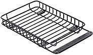 Adaskala Porta-bagagens de metal para teto de carro RC compatível com 1/10 Traxxas Hsp Redcat Rc4wd Axial Scx1