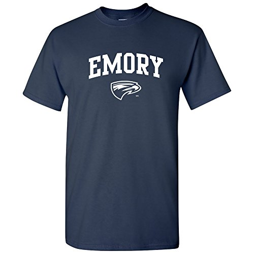 AS03 - Emory Eagles Arch Logo T-Shirt - Large - Navy