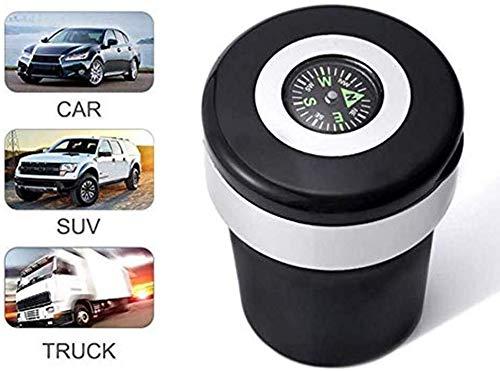Boussole Cendrier pour voiture Support cylindrique sans fum/ée maison Lumi/ère LED bleue Cendrier de bureau Cendrier de voiture portable avec couvercles bureau