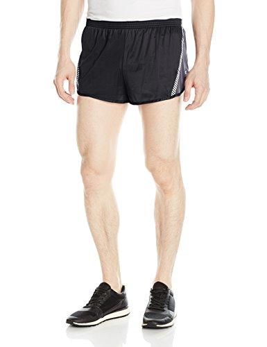 Soffe Men's Ultra Marathon Short, Black/steel, Medium