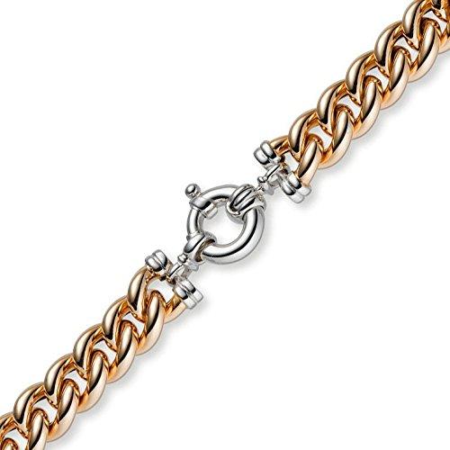 11,5 Mm rundpanzer bracelet couleur or rose et or blanc 585 & 19 cm