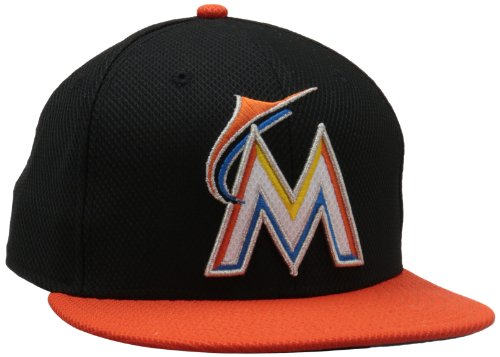MLB 2013 Miami Marlins Road Diamond Era 59Fifty Baseball Cap, - Practice Cap Performance Batting