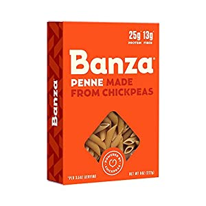 Banza Chickpea Pasta, Penne – Gluten Free Healthy Pasta, High Protein, Lower Carb and Non-GMO – (Pack of 6)