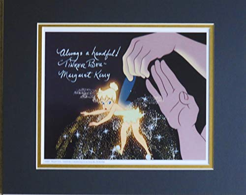 Disney Autographed Tinker Bell Matted Photo Always A Handful Signed By Original Reference Model for Tink, Margaret Kerry