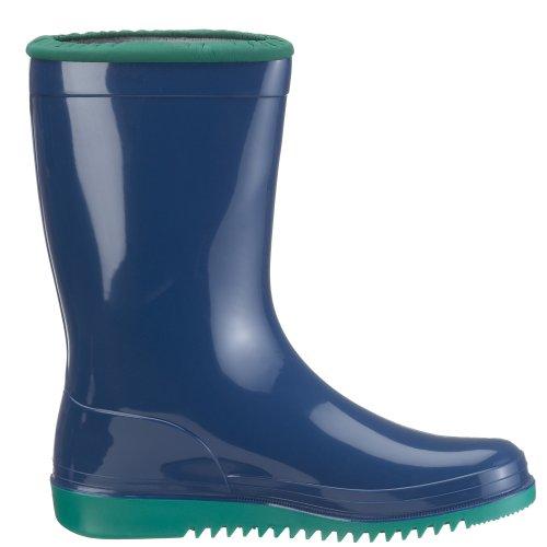 Romika Kadett | PVC Kinder Regenstiefel  | Bunte Unisex-Gummistiefel für Mädchen und Jungen | Schadstofffrei | Gr. 36-42 Blau (blau-minze 524)