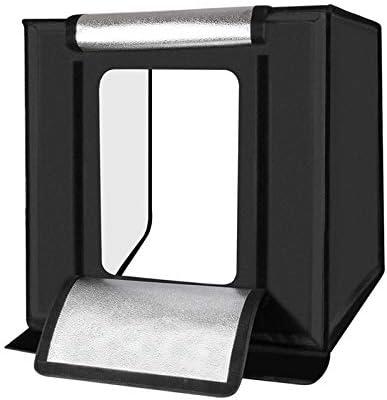 Caja De Luz 60Cm Estudio, Mini Portátil Caja De Luz De 60 W De Luz Blanca