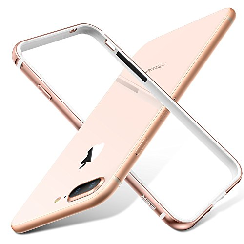 ESR iPhone 8 Plus Case, iPhone 8 Plus Bumper Case, [Aluminum Frame with Soft TPU Shockproof Inner] [No Signal Blocking] Slim Design Protective Cover for iPhone 8 Plus/iPhone 7 Plus(Gold)