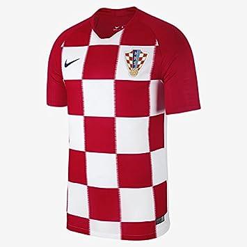 599fa16801d 2018 FIFA World Cup of Soccer Team Croatia Stadium Home Replica Red White  Jersey (Medium)