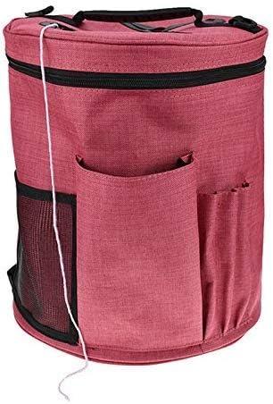 編み物用バッグ 毛糸 収納 編み物用品 持ち運び 便利 ズック