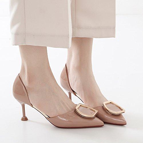 Primavera scarpe YMFIE ed scarpe estate scarpe con lavoro single multa C da con tacco scarpe eleganti temperamento eleganti alto dq1AZqr