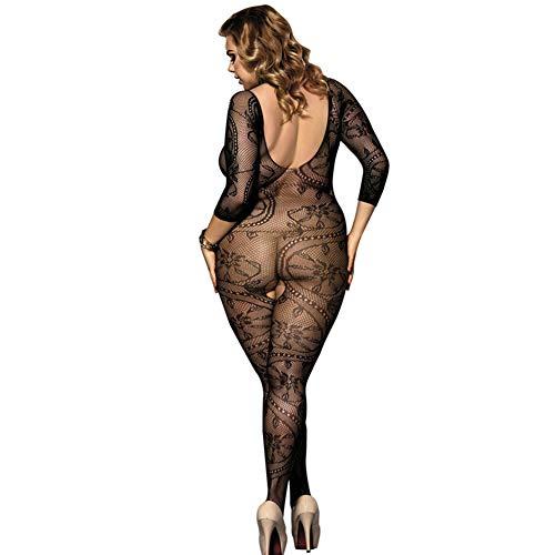 - Large Size Sexy lace Body Stockings Fishnet Open Tight Pajamas Bodystocking Stockings Temptation,A09,XL