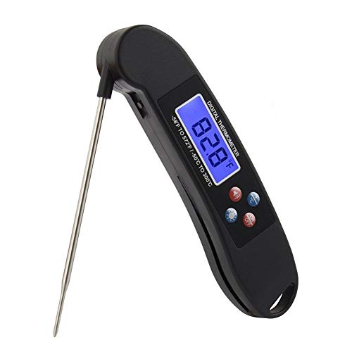 Talking Meat Thermometer for BBQ- Instant Read Digital Kitchen Food Thermometer for Cooking High Temperature Oil Frying Baking Cakes Milk Candy Making Cold Drinks FDA Approved Probe with Led Backlit