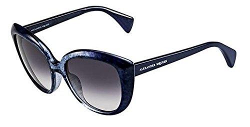 Alexander McQueen Sunglasses - 4234/S / Frame: Navy Blue / Light B Light R Lens: Dark Gray - B R Sunglasses