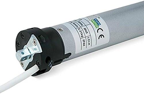 Blue Motor Line - Motor tubular MOT30SC para persiana enrollable, 30 NM, diámetro 45, plata