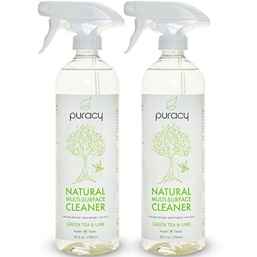 [Puracy Natural All Purpose Cleaner, THE BEST Household Multi Surface Spray, Streak Free on Glass and Stainless Steel, Child and Pet Safe, Green Tea and Lime, 25 Ounce Bottle, (Pack of 2)] (Austin Floor Mat)