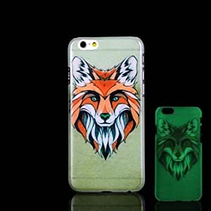 ZL Wolf Pattern Glow in the Dark Hard Case for iPhone 6 Plus
