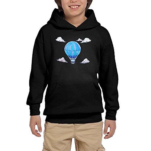 (Hot Air Balloon Teen Girls Pullover Hoodie Fashion Pocket Sweatshirts)