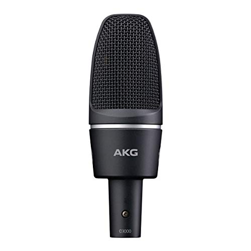 AKG Pro Audio Multi Purpose Studio Vocal/Instrument Microphone, Gray/Blue (2785X00230)