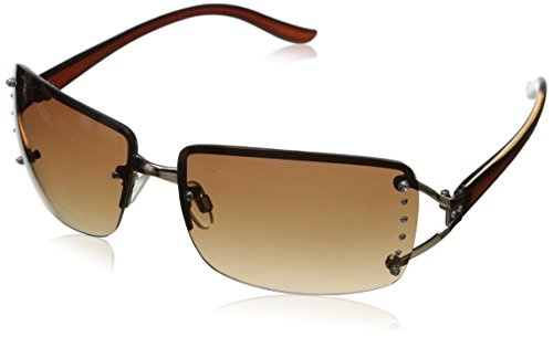 Foster Grant Women's Vera Oval Sunglasses, Gold, 64 - For Women Sunglasses Foster Grant