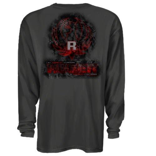 b7f040ab6 Cyberteez Sturm Ruger & Co Kryptek Digital Eagle Logo Firearms Men's  Longsleeve T-Shirt (2XL)