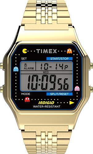 Timex T80 X Pac-Man Digital Grey Dial Unisex's Watch-TW2U32000