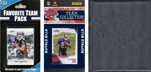 NFL Buffalo Bills Licensed 2010 Score Team Set and Favorite Player Trading Card Pack Plus Storage Album Score Buffalo