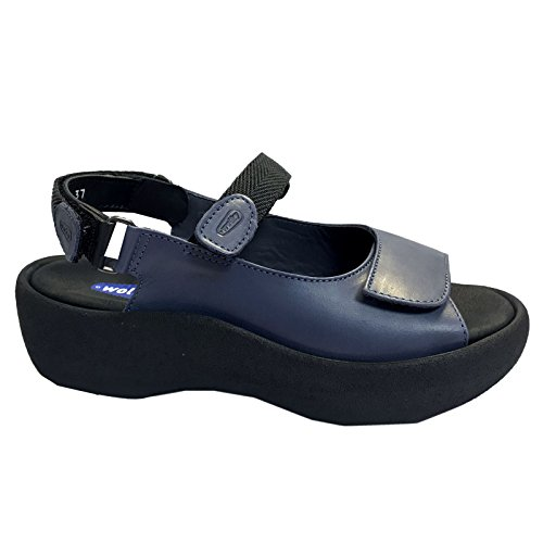 (Wolky Womens Jewel Blue Leather Sandals 38)