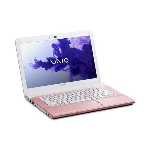 Sony VAIO SVE1412ECXP 14-Inch Laptop Computer (3rd Generation Intel Core i3-3110M 2.4GHz, 4GB DDR3, 320GB HDD, DVDRW, Windows 8 64-bit) Pink (Sony Laptop 14 Inch I3)