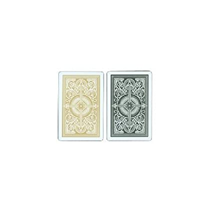 Amazon.com: Kem Flecha 100% plástico Playing Card 2 Deck Set ...