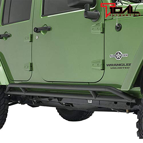 07-18 Jeep Wrangler JK 4 Door Side Armor Rocker Guard Rock Sliders