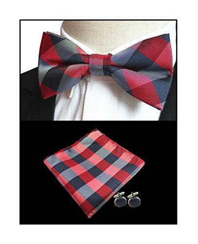 ue Bow Tie Woven Work Slim Fun Party Celebration Suit Bowtie ()