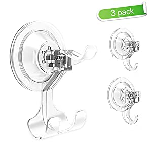 Budget&Good Powerful Suction Cup Hooks Bathroom Shower Razor Holder